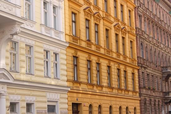 Façades colorées de Prague