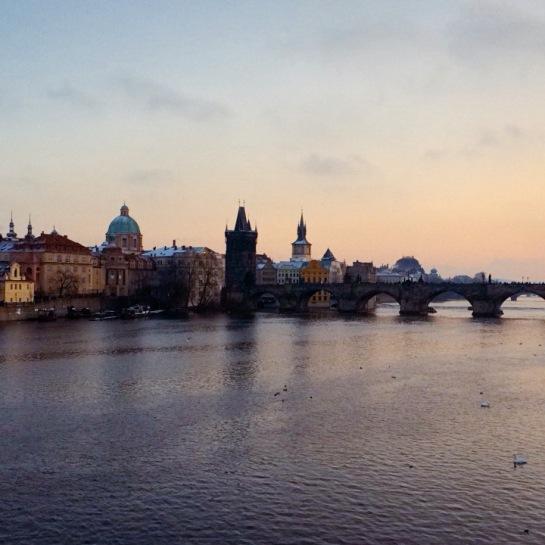 Prague, pont sur la vltava